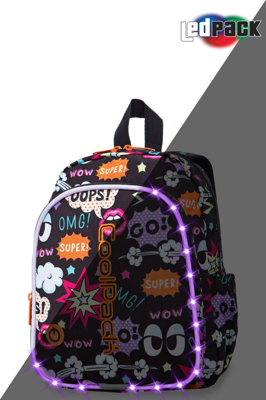 Рюкзак CoolPack LED 8L, модель Comics Bobby (30x22x8,5см)