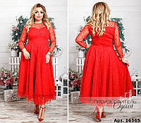 Нарядное женское платье большого размера  48-50, 52-54