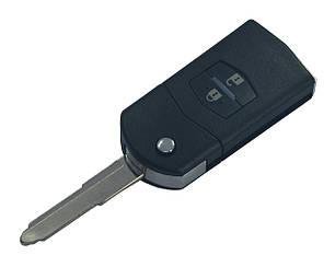 Заготовка MAZDA ORIGINAL выкидной ключ 2 кнопки (корпус)