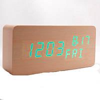 Электронные часы VST-862W-4 (ярко-зел.подсвет./датчик.темп.и влажности/дата)