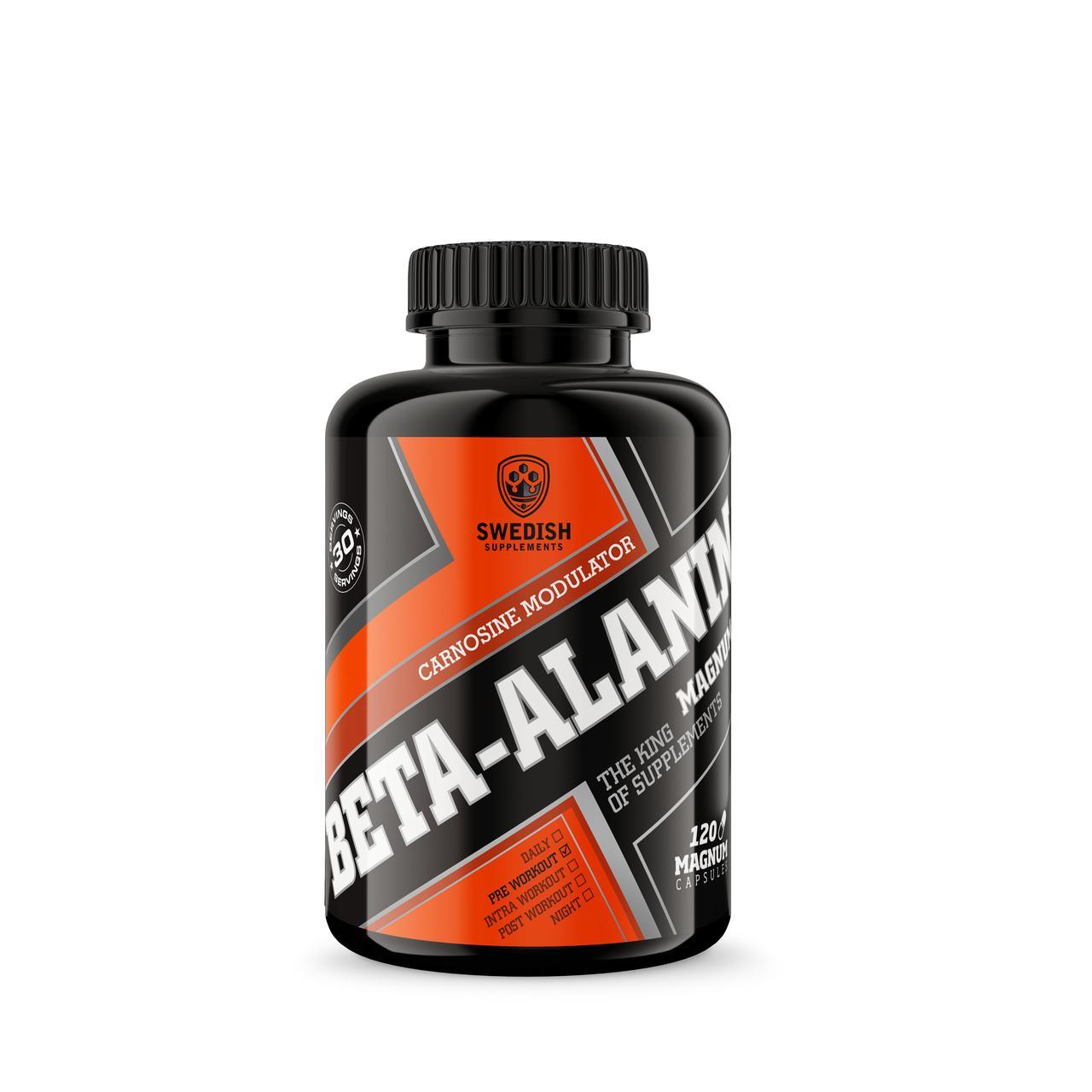 Swedish Supplements Beta-Alanine Magnum, 120caps