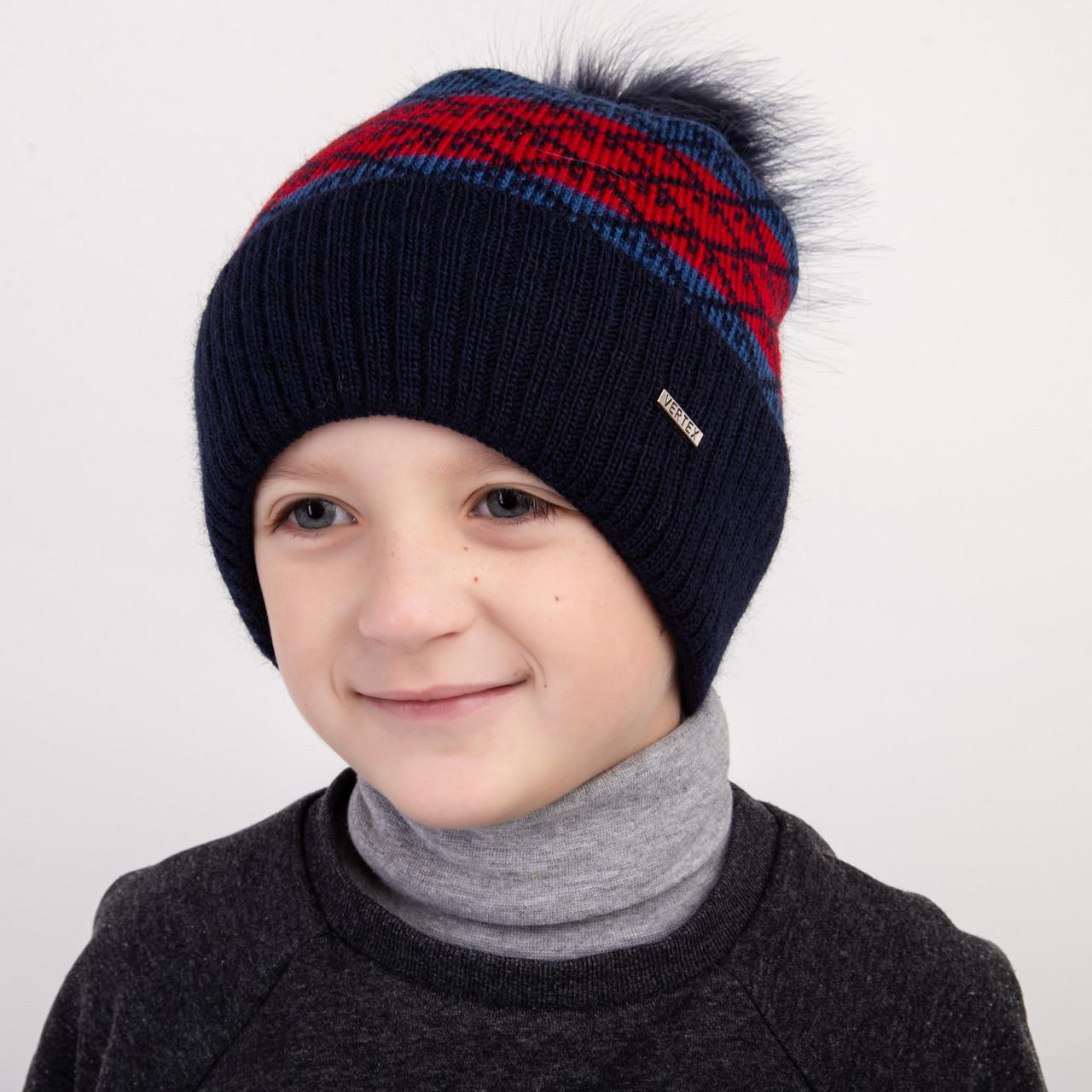 Шапка на зиму для мальчика оптом - Артикул 2391