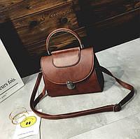 Женская мини сумка Темно-коричневый, фото 1