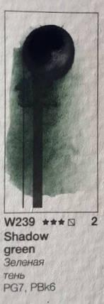Краска акварельная Pinax 15мл Зеленая тень Ser.2 - W239, фото 2