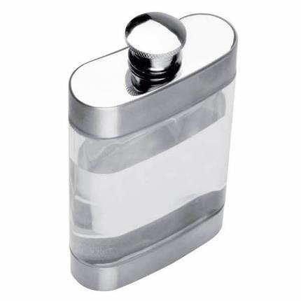 Фляга из металла и прозрачного пластика 125мл 6293766-CRA , фото 2