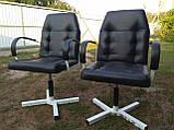 Кресло парикмахерское черное, фото 2