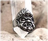 "Перстень ""Boho"" нержавеющая сталь размер 20 - 22 Ваджрасаттва"