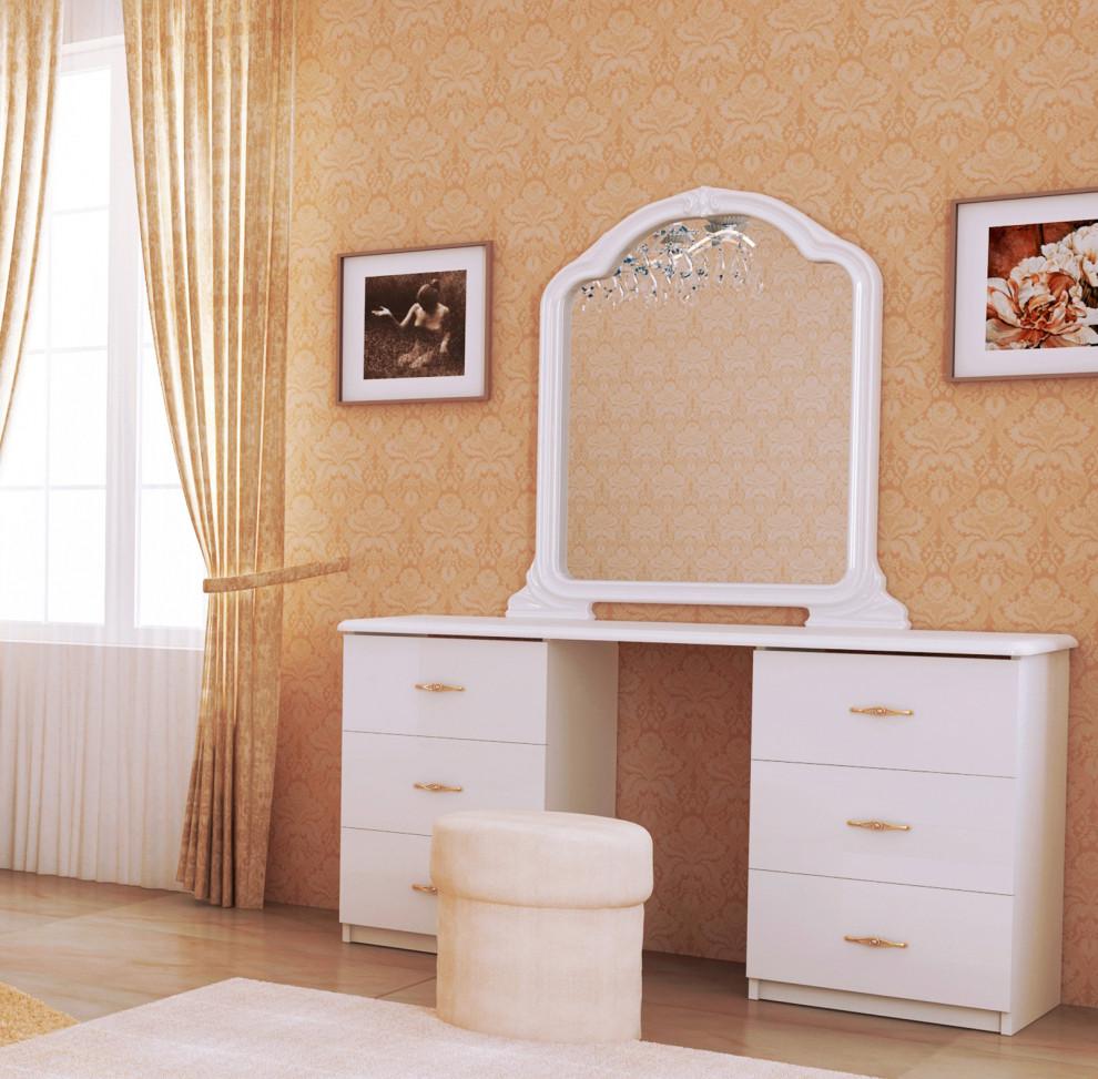 """Туалетний столик """"Футура"""" від Миро-Марк (білий глянець)."""