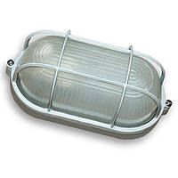 Светильник Lemanso ЖКХ НПП 04 У-71 (метал/стекло) Антивандальный Белый ОВАЛ