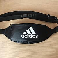 Мужская сумка на пояс Adidas черная, фото 1