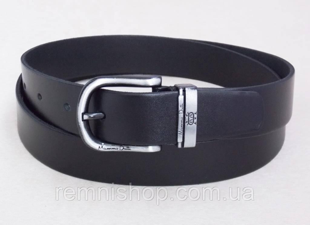Мужской кожаный ремень Massimo Dutti 35 мм