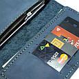 """Портмоне кожаное в морском стиле с гравировкой Travel Case """"Compass"""". Цвет голубой, фото 6"""