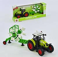 Инерционный трактор с прицепом, со световыми и звуковыми эффектами, код WY 900 D