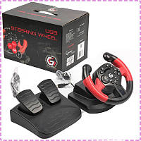 Игровой руль для ПК Gembird STR-UV-01, руль с педалями для компьютера