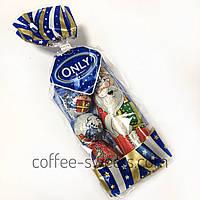 Шоколадный набор Only ( Дед Мороз + игрушки на елку) 100g