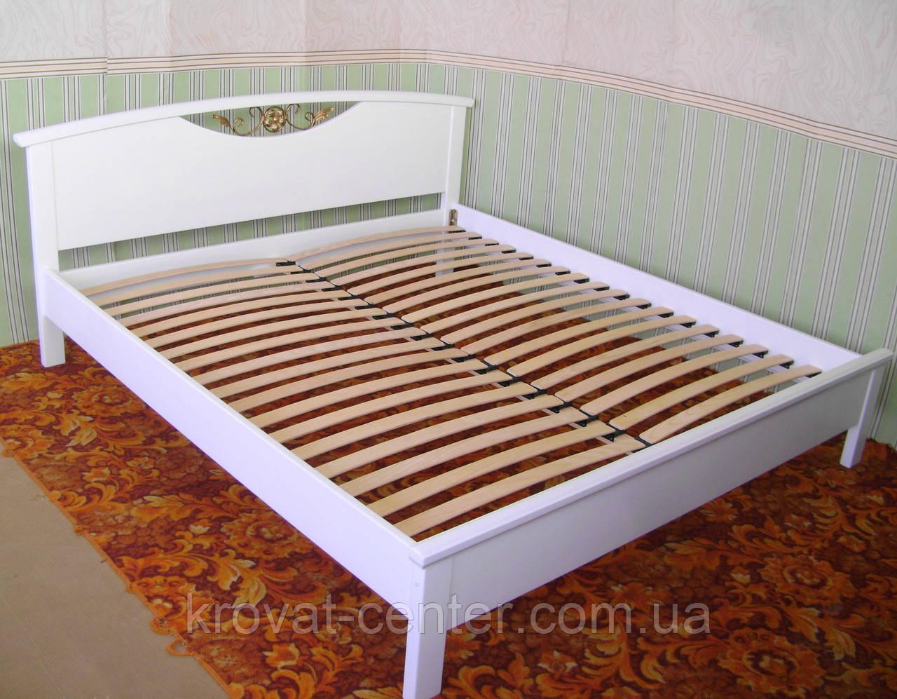 """Белая полуторная кровать """"Фантазия"""""""