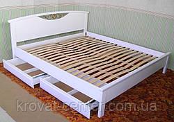 """Белая полуторная кровать """"Фантазия"""", фото 2"""