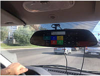 "Зеркало - видеорегистратор 7.0"" дюймов на две камеры. 3G, GPS навигатор, Android 5.0, парковка и др."