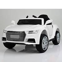 Детский электромобиль Audi, кожаное сидение, колёса EVA резина, дитячий електромобіль