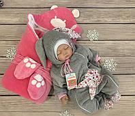 """Зимний Набор на выписку для новорожденного """"Лесные зверята"""", фото 1"""