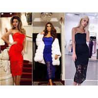 Платье трикотаж-гипюр мод. 051