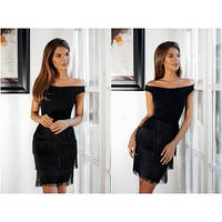 Платье с бахрамой мод.052