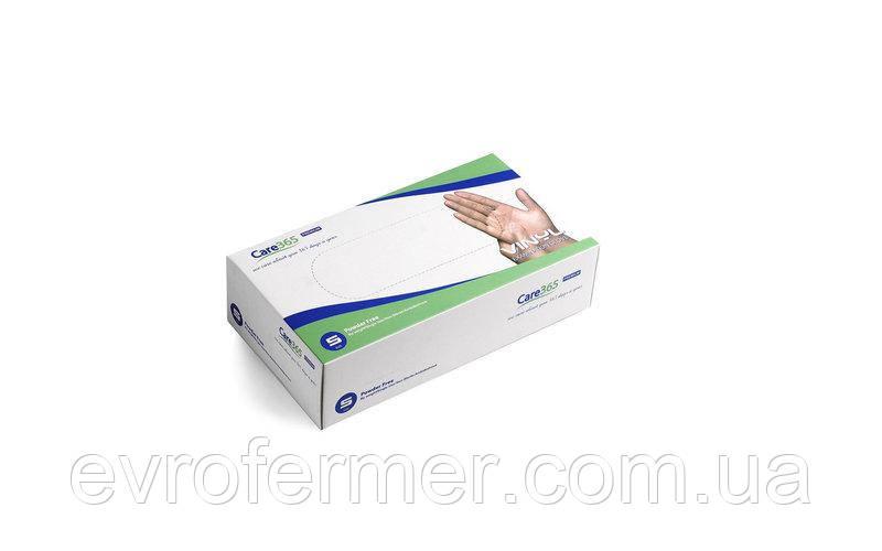 Одноразовые виниловые перчатки Care 365 уп. 100 шт.