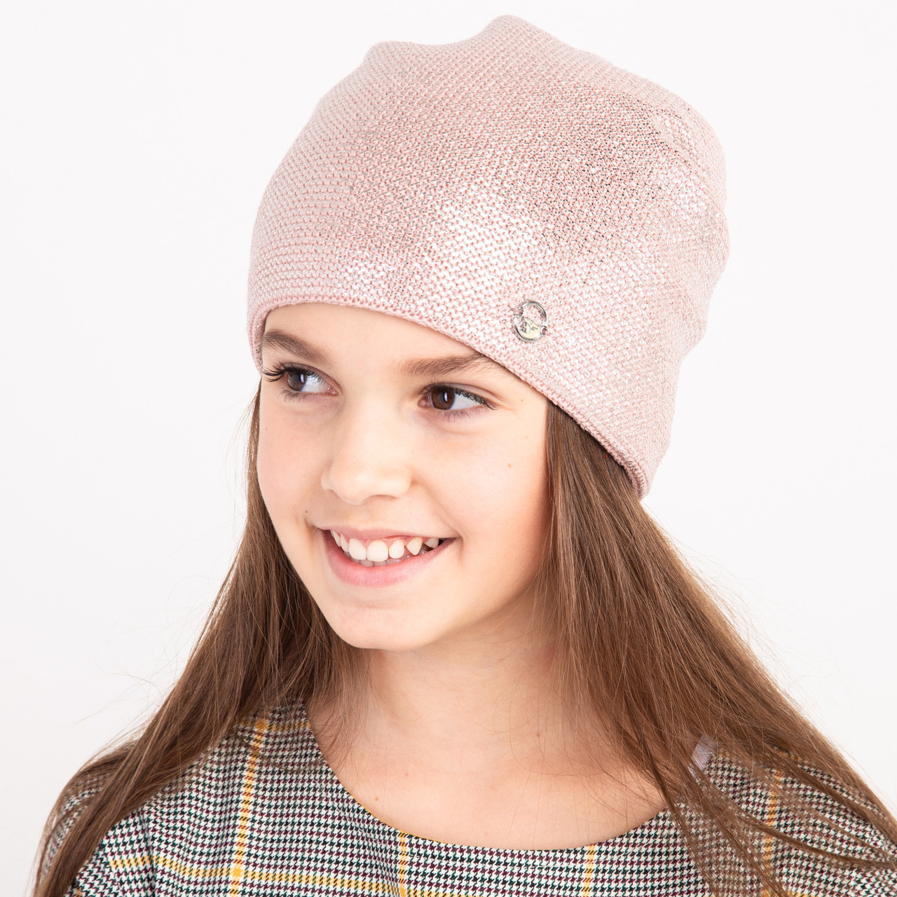 Модная шапка на зиму для девочки оптом - Артикул 2387