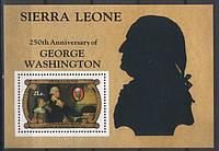 Sierra Leone - 250 лет Вашингтону
