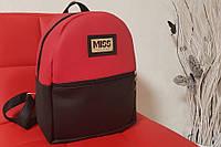 Женский стильный рюкзак красно-черного цвета, вместительный портфель