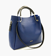 """Сумка женская, стильная """"Belit""""с косметичкой, синяя, 0529, фото 1"""