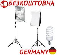 Софтбокс + лампа + сумка + штатив фотостудия студийный свет Германия
