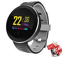 Фитнес браслет Smart Band KGG Q8 Pro,серо-черный , IP68 Цветной экран Датчик кровяного давления