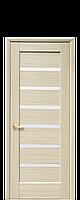 Дверне полотно Лінея зі склом сатин колір Ясень