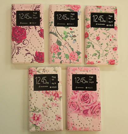 "Книжка боковая Flowers with Diamonds с окном №1 (5.7"") pink ""Акционная Цена"", фото 2"