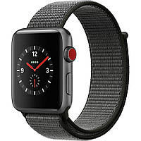 Apple Watch Series 3 38mm GPS+LTE Space Gray Aluminum w. Dark Olive Sport L. (MQJT2)