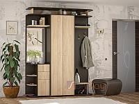 """Прихожая - Блюз """"Мебель Сервис"""", 169 см, ДСП - Дуб самоа/Венге темний"""