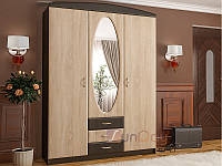 "Прихожая - Вита-1 ""Мебель Сервис"", 150 см, МДФ -Дуб самоа-Венге темний/Горіх"