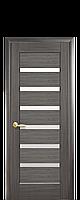 Дверне полотно Лінея зі склом сатин колір Сірий