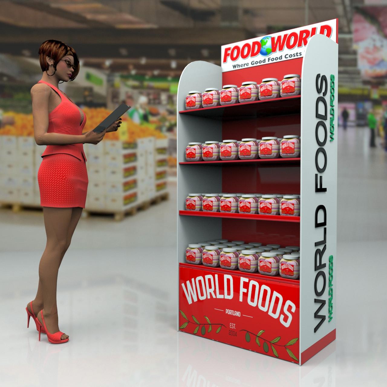 Купить торговое оборудование WORLD FOODS