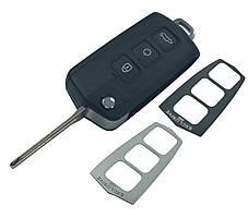 Заготовка KIA CERATO выкидной ключ 3 кнопки +1 кнопка (PANIC) (корпус) KOREA style