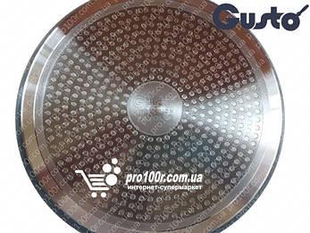 Сковорода 28 см глубокая Gusto Marble GT-2105-28, фото 2