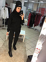 6bbb0db1a967 Женский теплый зимний спортивный костюм трехнить на флисе,под горло,  красный, черный 42