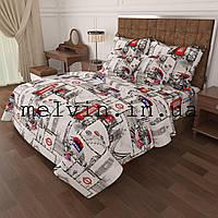 Комплект постельного белья бязь  евро КАЧЕСТВО ЛЮКС London, фото 1