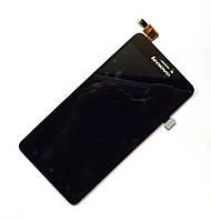 Модуль (Дисплей + сенсор)  Lenovo S850 with touch screen black s/k