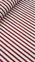 """Ткань бязь 100% хлопок """"Красные полоски"""", 160 см"""
