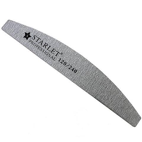 Пилочка Starlet Professional полукруг серая 120/240, 18 см