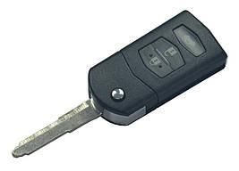 Заготовка MAZDA ORIGINAL выкидной ключ 3 кнопки (корпус)