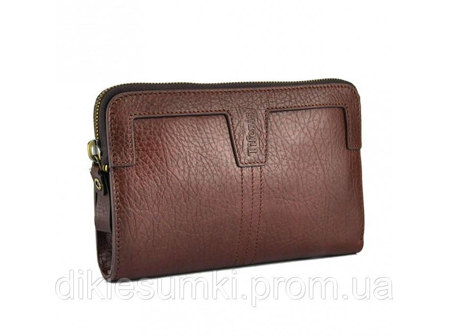 7b969bb14291 Мужской кожаный клатч коричневого цвета Tifenis Tf69997-2C в ...