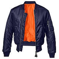 Куртка Brandit MA1 DARK NAVY XL Синяя, КОД: 260116